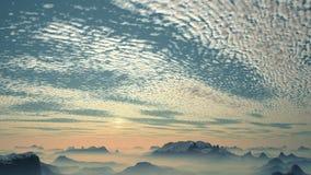 El vuelo rápido sobre los picos de montaña libre illustration