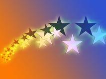 El vuelo stars la ilustración Foto de archivo