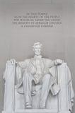 El Washington DC conmemorativo los E.E.U.U. de Lincoln Imagen de archivo