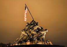 El Washington DC del monumento de la guerra del Cuerpo del Marines Foto de archivo