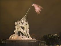 El Washington DC del monumento de la guerra del Cuerpo del Marines fotos de archivo