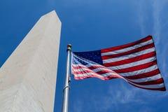El Washington DC del obelisco fotografía de archivo