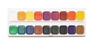 El Watercolour pinta la gama de colores Foto de archivo libre de regalías