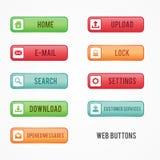 El web colorido determinado abotona el diseño gráfico plano para su mejor sitio web del negocio stock de ilustración