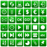 El Web cuadrado verde abotona [3] Imagen de archivo