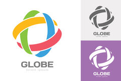 El web de la órbita de la tecnología suena el logotipo ilustración del vector