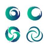 El web de la órbita de la tecnología suena diseño de concepto en el fondo blanco ilustración del vector