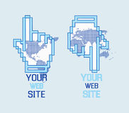 El Web de la insignia da el modelo Foto de archivo libre de regalías