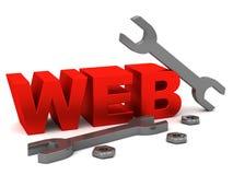 El WEB filetea la llave y la tuerca stock de ilustración