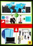 El Web site de las tecnologías del Internet. Vector Fotografía de archivo libre de regalías