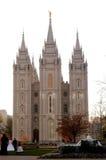 El Wedding en el templo de Salt Lake City Foto de archivo