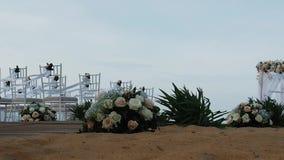 El Wedding en la playa almacen de metraje de vídeo