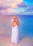 El Wedding en la playa Imágenes de archivo libres de regalías