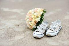 El Wedding en una playa Imagen de archivo