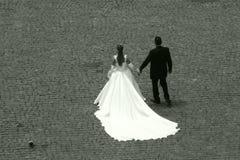 El Wedding por el Colosseum Fotografía de archivo