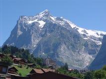 El Wetterhorn poderoso, Grindelwald, Suiza Imagen de archivo libre de regalías
