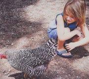 El whisperer del pollo imagenes de archivo