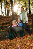 El Whooshing con otoño Fotografía de archivo libre de regalías