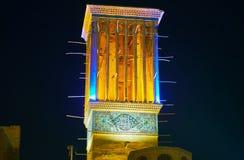 El windcatcher medieval en Kermán, Irán Fotografía de archivo