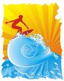 El Windsurfing Imagen de archivo libre de regalías