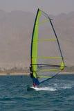 El Windsurfing en Eilat Fotografía de archivo libre de regalías