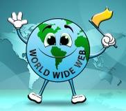 El World Wide Web muestra el ejemplo 3d de la búsqueda en línea ilustración del vector