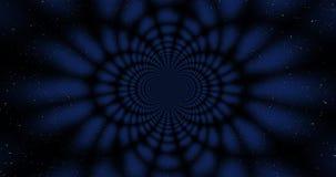El Wormhole psicodélico del espacio con las estrellas como fondo 3D rindió el ejemplo stock de ilustración