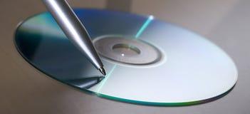 El wrinting Cd Foto de archivo