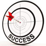 El éxito muestra la determinación y ganar del logro Fotografía de archivo libre de regalías