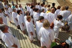 EL Yahud di Qasr del sito di battesimo l'israele fotografia stock
