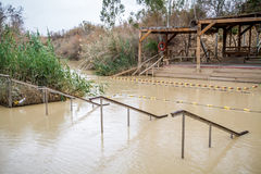 EL Yahud, site de baptême, Jordan River de Qasr en Israël Image stock