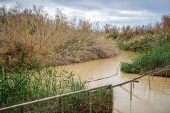 EL Yahud, site de baptême, Jordan River de Qasr en Israël Photographie stock
