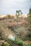 EL Yahud, site de baptême, Jordan River de Qasr en Israël Image libre de droits