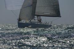 El yate compite en Team Sailing Event Fotografía de archivo