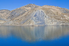 EL Yeso d'Embalse Photographie stock