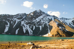EL Yeso, les Andes d'Embalse Photos stock