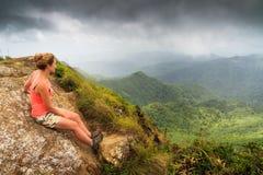EL Yunque di punto di vista della donna Fotografia Stock Libera da Diritti