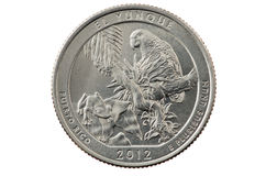 El Yunque quarter coin Stock Photography
