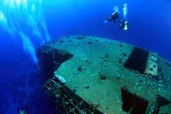 El zambullirse en el Mar Rojo Imágenes de archivo libres de regalías