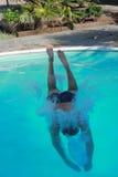 El zambullirse en la piscina Imagen de archivo