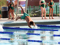 El zambullirse en piscina Imagenes de archivo
