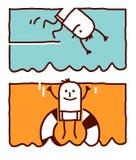 El zambullirse y salto en el agua Fotografía de archivo