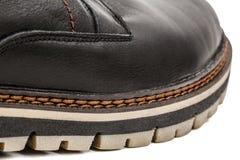 El zapato del hilo fuerte needled, puntada del primer de la costura imagen de archivo libre de regalías