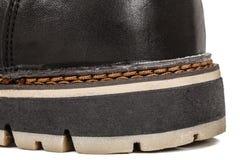 El zapato del hilo fuerte needled, puntada del primer de la costura, aislada foto de archivo