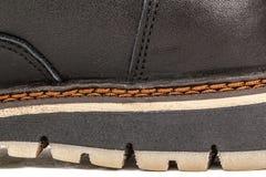 El zapato del hilo fuerte needled, puntada del primer de la costura, aislada fotografía de archivo libre de regalías