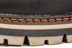 El zapato del hilo fuerte needled, puntada del primer de la costura, aislada fotos de archivo