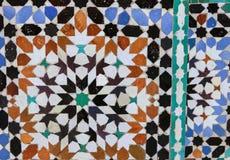 El zelidzh marroquí del mosaico Imágenes de archivo libres de regalías