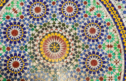 El zelidzh marroquí del mosaico Foto de archivo libre de regalías