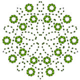 El zentangle de la mandala inspiró la flor, dibujo del garabato de la mandala colorida ornamental redonda Fotografía de archivo