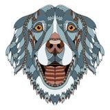 El zentangle del perro del golden retriever estilizó el lápiz principal, a pulso, h libre illustration